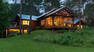 Contemporary Camp In The Woods