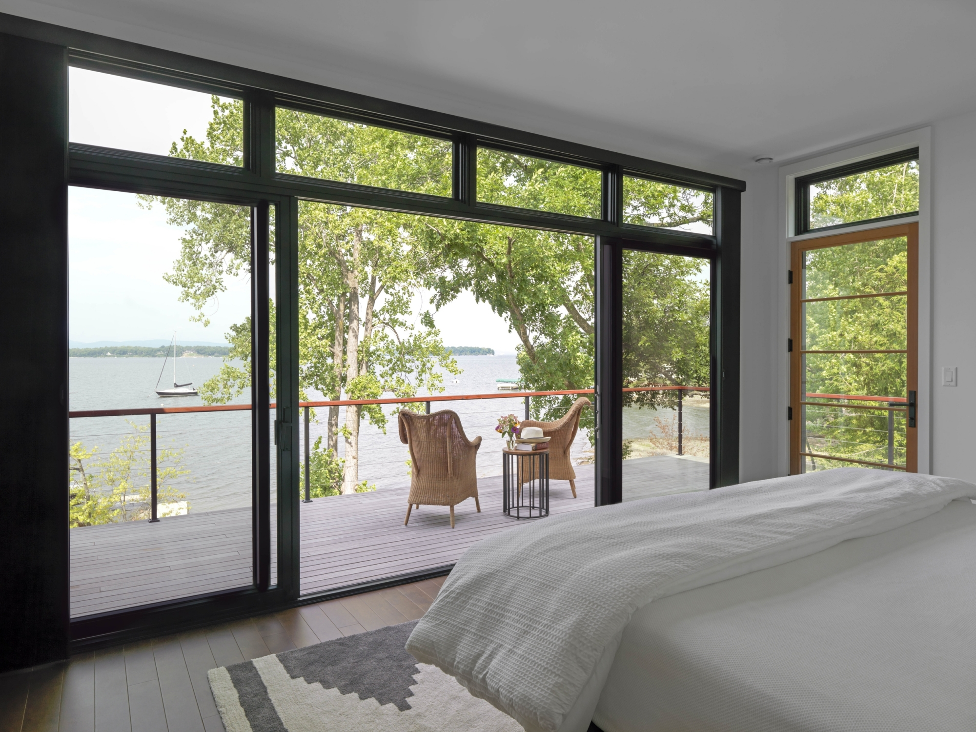 Master Bedroom of Lakefront home
