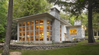 Restored American International Home